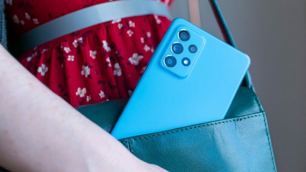 Красивый блок камер телефона Samsung