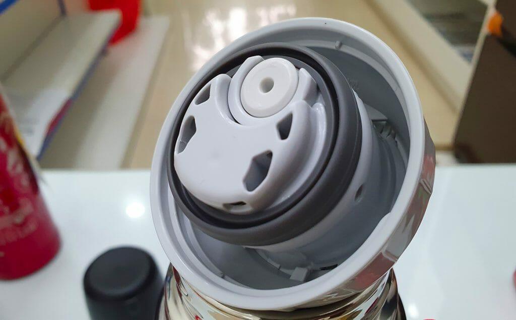 Качественный термос с крышкой-клапаном