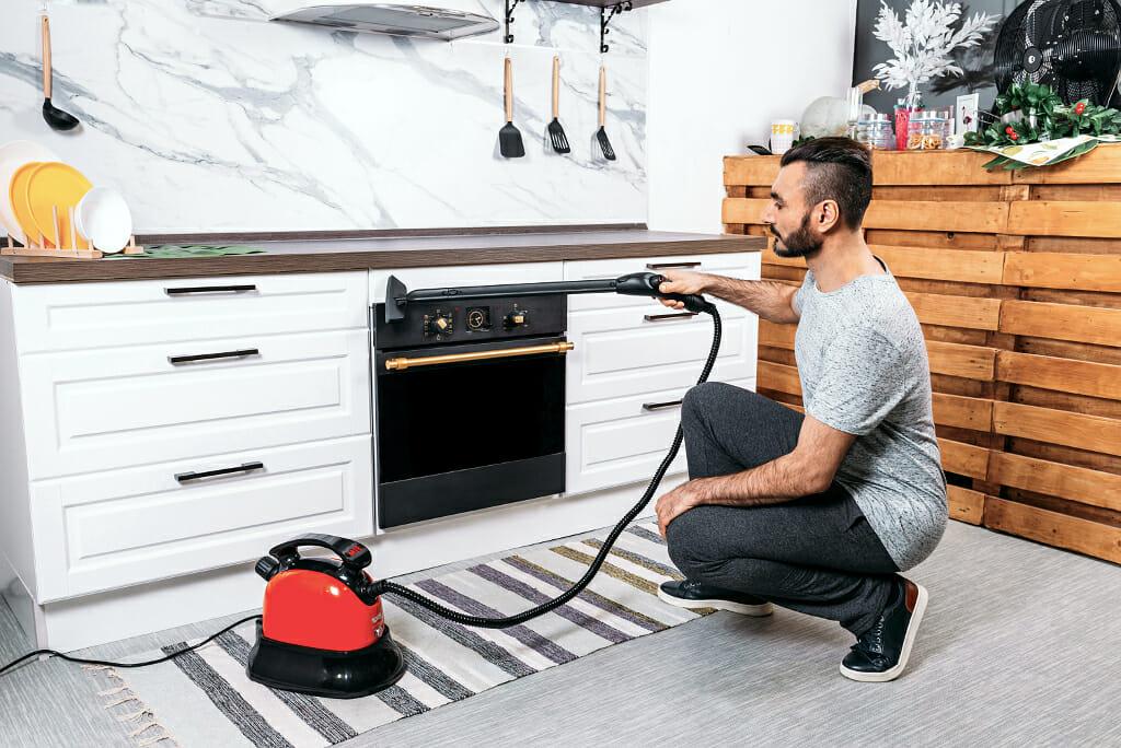 Напольный пароочиститель для мойки кухни
