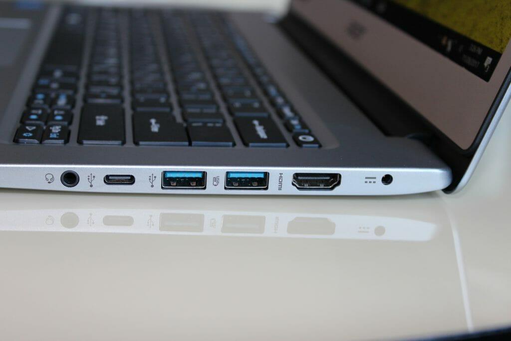 Порты недорогого ноутбука