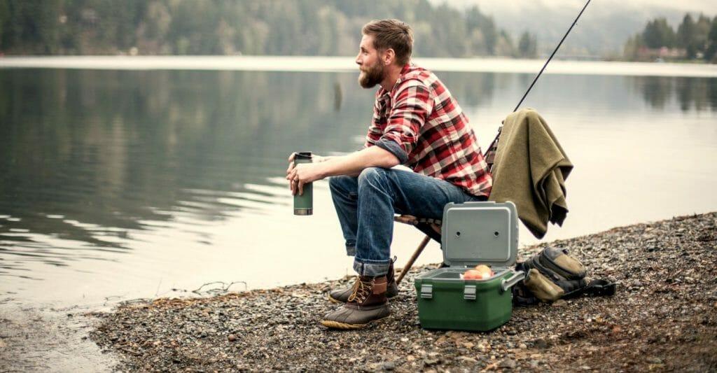 Термос для одного человека на рыбалке