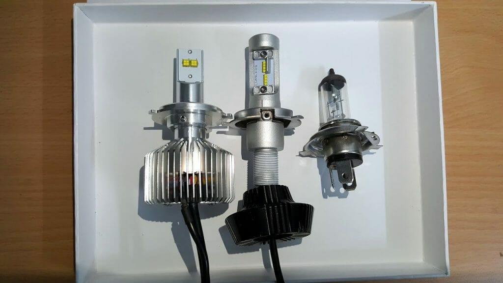 Светодиодные и галогенная лампы