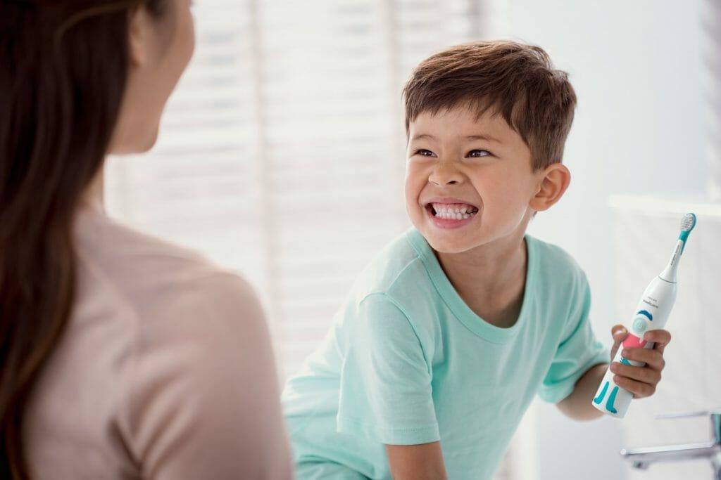 Результат чистки детской зубной щеткой
