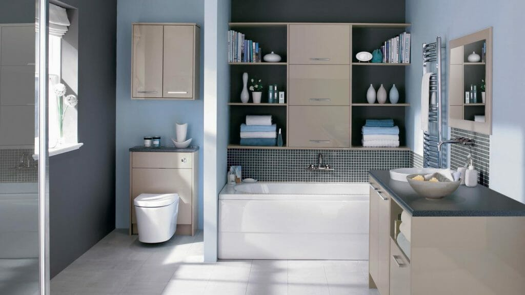 Ванная комната в сдержанном стиле