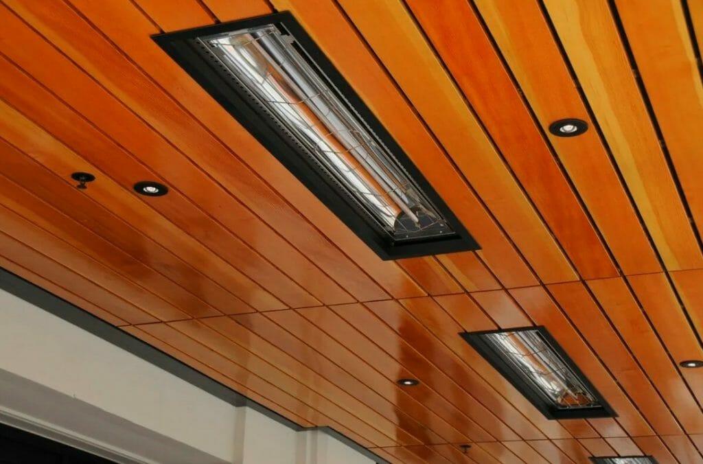 Встроенные в потолок инфракрасные обогреватели