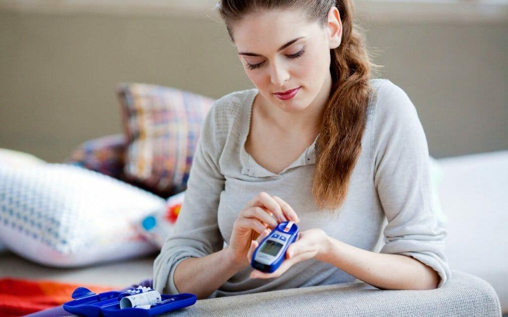 Синий глюкометр