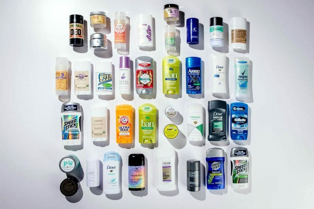 Множество дезодорантов