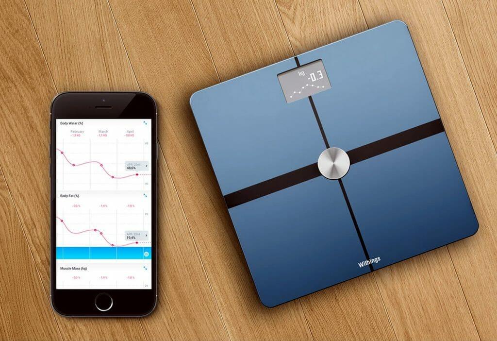 Напольные весы с подключением к смартфону