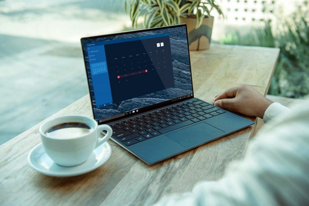 Серый ноутбук