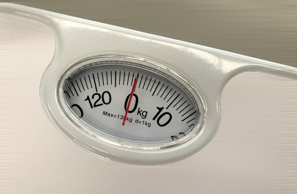 Шкала механических напольных весов