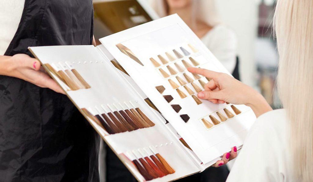 Выбор цвета краски для волос