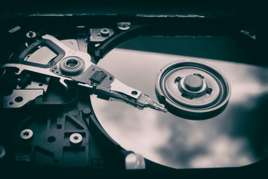 Жесткий диск внутри