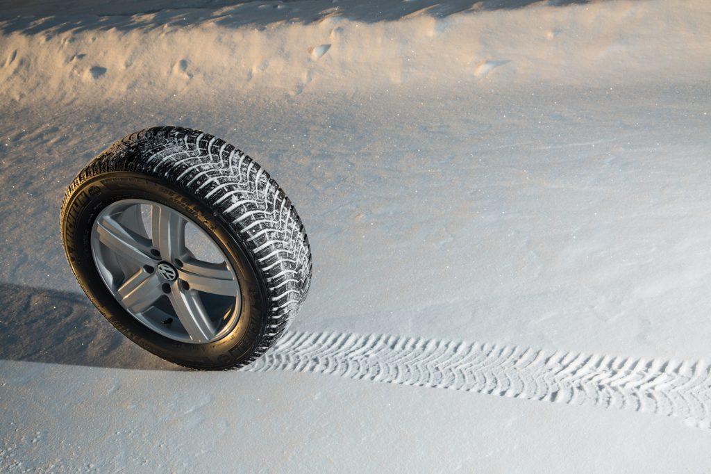 Рисунок протектора на снегу